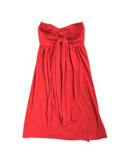 Tango red tube cocktail party formal short mid length dress