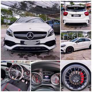 SAMBUNG BAYAR/CONTINUE LOAN  MERCEDES BENZ A45  YEAR 2017 MONTHLY RM 6050 BALANCE 4 YEARS ROADTAX VALID TIPTOP CONDITION  DP KLIK wasap.my/60133524312/a45