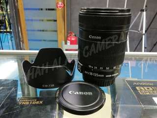 CANON EF-S 18-135MM F3.5-5.6 IS LENS.