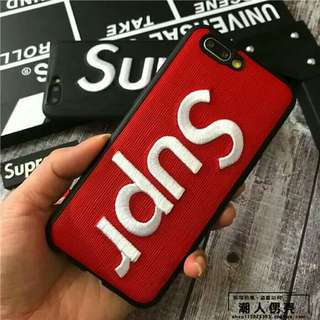 Premium Supreme Casing Embos 3D Soft Case iPhone - Red
