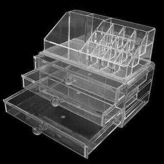 Acrylic Cosmetic and Makeup Organizer and Jewelry Storage