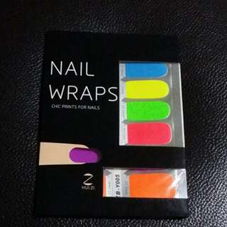 Chic Neon Colours Nail Foil Stickers