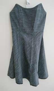 GG5 bustier grey dress