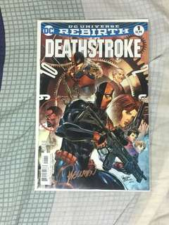 DC Rebirth Deathstroke #1 SIGNED by Carlo Pagulayan