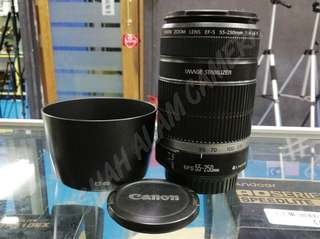 CANON EF-S 55-250MM F4-5.6 LENS.