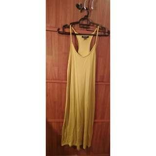 Topshop mustard long dress