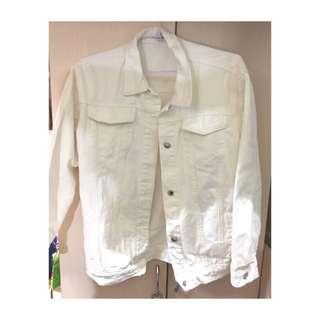 🚚 全新白色牛仔外套