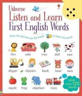 英文圖書 手指點讀書「Listen and Learn First English Words」