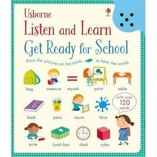 English Book  手指點讀書「Listen and Learn Get Ready for School」
