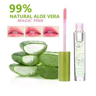 Organic AloeVera Magic Pink  Lip Gloss (for natural looking lips)
