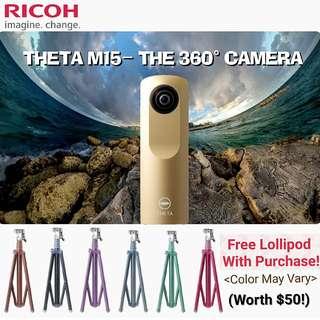 Ricoh Theta M15 GOLD/Free Lollipod with Purchase! GSS PROMO! SUPER CHEAP PRICE!