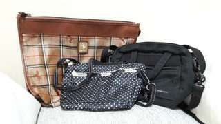 SALE🌻REPRICED🌻Pre-loved Bags (United Colors of Benetton, Lesportsac, Ferrari: SOLD INDIVIDUALLY)