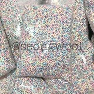 pastel foam beads