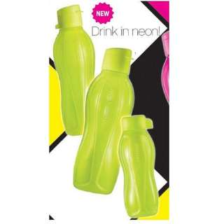 Tupperware Neon Eco Bottle Set - Neon Yellow