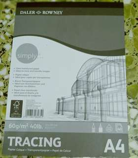 Art friend A4 tracing paper pad 40 sheets 60g/m^2