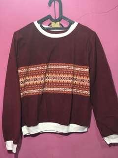 Brown Velvet Sweater