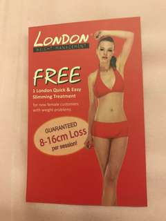 London weight management slimming - 8x treatment package (can try 1 free session to see if it suits you)