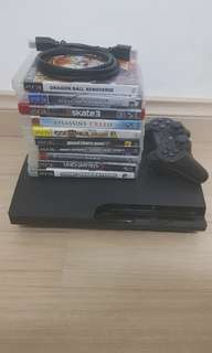 PS3 500GB with 10 games, 1 controller.