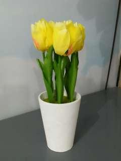 Bunga plastik untuk dekor rumah