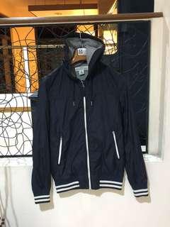 H&M Navy Blue Jacket with Hoodie