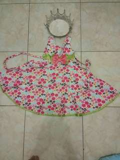 Dress flower anak