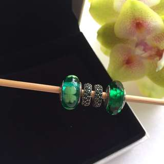 Pandora Charms - Green with Envy set