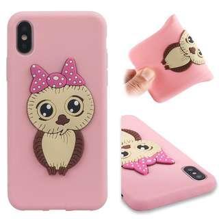 Iphone X Case Silicone Owl Design price per pc
