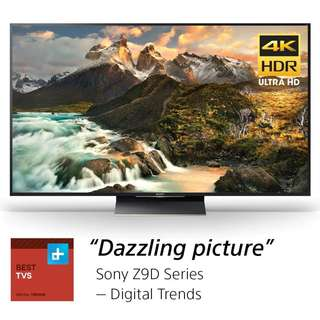 Sony XBR75Z9D 75-Inch 4K Ultra HD Smart LED TV (2016 Model), Works with Alexa