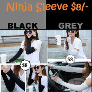 Cool Unisex High quality Ninja and Non Ninja Arm Sleeve $8/- (Black/Grey)
