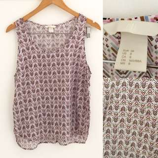 Tribal color top H&M