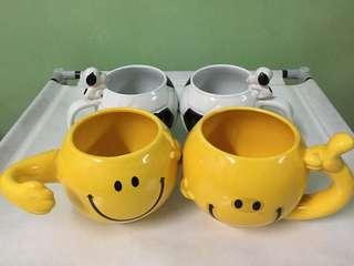 Mugs, cups and hotflask