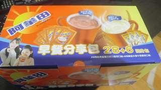 🚚 阿華田分享包巧克力麥芽20gx28+黃金大麥芽牛奶30gx6