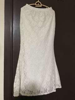 FRC White Mermaid lace Skirt
