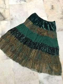 Classy Velvet Bohemian Skirt