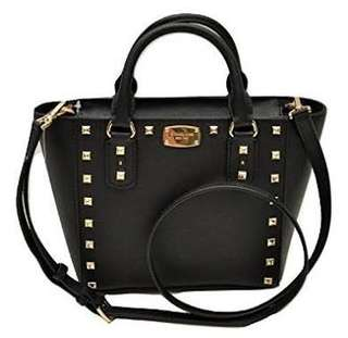 Michael Kors black studded bag