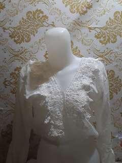 Blouse Lace Brokat White