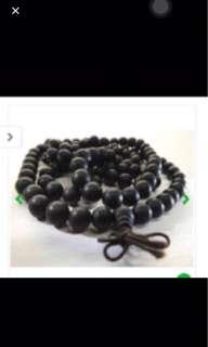 {FS138} 黑金刚木佛珠 108 penawar hitam necklace