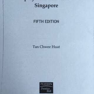 Employment relations textbook tan chwee huat NTU