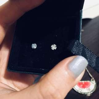 Vintage Mykonos island shell earrings
