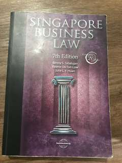 SINGAPORE BUSINESS LAW 7th Edition ( SUSS textbook )