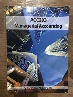 ACC203 Managerial Accounting ( SUSS textbook )