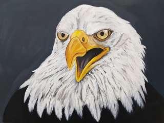 Eagle on canvas