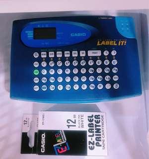 Casio KL-60 英文名貼紙