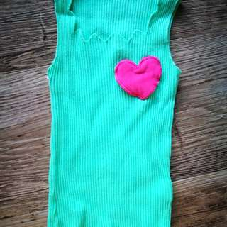 Bright Green Sleeveless Top