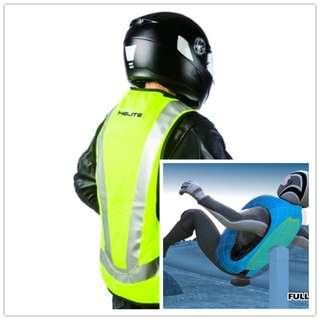 Helite Turtle Airbag Vest Hi-vis Motorcycle Driver Protected Jacket