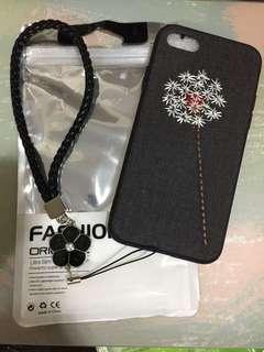 iphone 7手機殼 文藝刺繡蒲公英