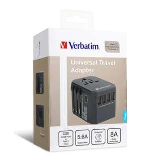 Verbatim 5 Ports 旅行充電器 Travel Adaptor 原裝行貨1年保養 黑色