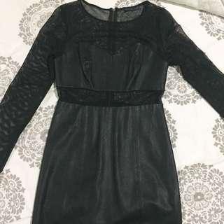 DIJUAL CEPAT GUESS X TIESTO BLACK DRESS