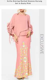 New Mimpikita Scilla Overlap Ruched Sleeves Kurung Set