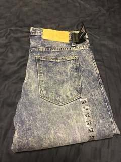 Cheap Monday denim washed jeans